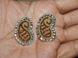 Golden Paisley Handcrafted Indian Appliques