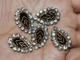 Leaf shaped Golden Indian Appliques