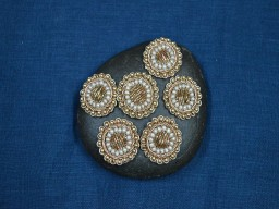 Indian Golden Appliques Patches Decorative Beaded Bridal Headband Appliques Embroidery Rhinestone Appliques