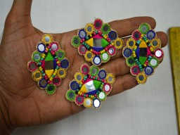 Handcrafted Appliques Crafting Decorative Mirror Patches