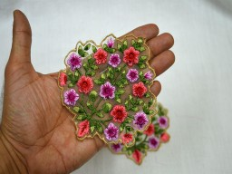 Embroidered Sewing Patches Floral Applique For Dresses