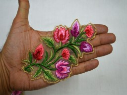 Decorative Thread Appliques Embroidered Sewing Indian Patches