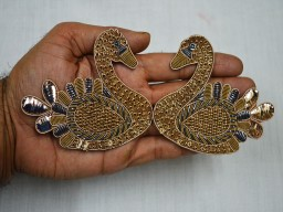 Golden Christmas Decorative Sewing Indian Appliques