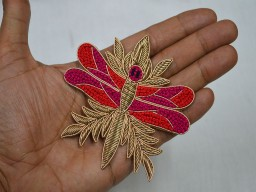 Crafting Beaded Patches Decorative Dragonfly Appliques