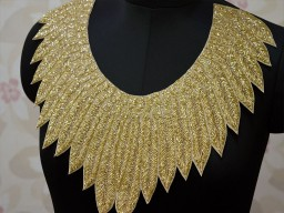 Exclusive Beaded embroidered Neckline Patches For Designer Blouses