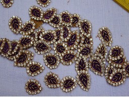 50 pieces bridal dresses craft art work appliques and online star decor metallic gold beaded patches handcrafted crafting sewing appliques Indian beaded embellishments embroidery decorative appliques