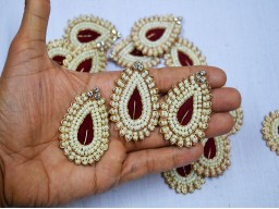 Indian Tear Drop Shape Headband Appliques