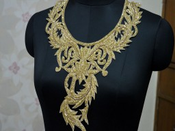 Gold Collar Handcrafted Neckline Patches