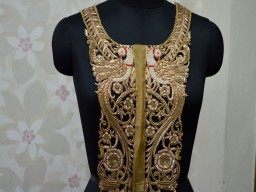 Crafting Zardosi Gold Neck Patch For Dress