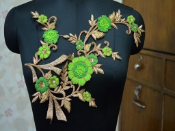 Floral Design Patches For Dress Decoration