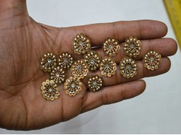 50 Tiny Flower shaped Golden Extremely Beautiful Appliques