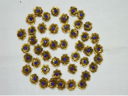 Indian Embroidery Rhinestone Golden Flower shaped Appliques