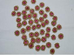 Magenta Flower shaped Bridal Appliques