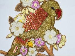 Bird Print Patches Handamde Parrot Decotaion Appliques Stylish Patches