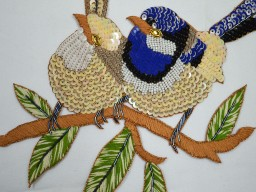 Embroidered Birds Handmade Patches Thread Work Heaavy Designer  Patches