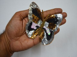 Decorative Butterfly Indian Sewing Crafitng Sequence Beaded Christmas Applique..