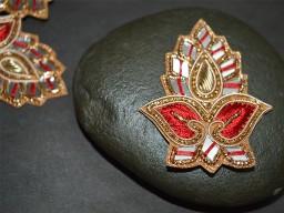 Christmas applique Decorative Golden Appliques Headband Applique