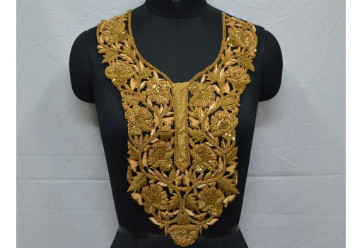 3 Pcs Latest Indian Round Flower Sequin Dress Rhinestone zardosi Dress Applique