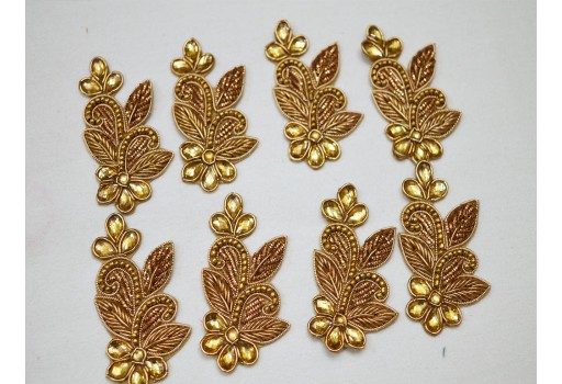Indian home decoration and decorative costume applique patch bullion embellishments handcrafted scrapbooking sewing embellished appliques crafting golden accessories dress appliques