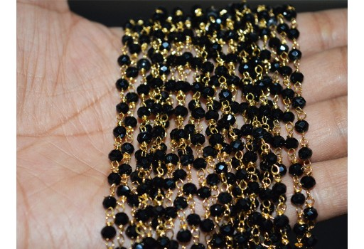 12 strings of Black Beads Chain
