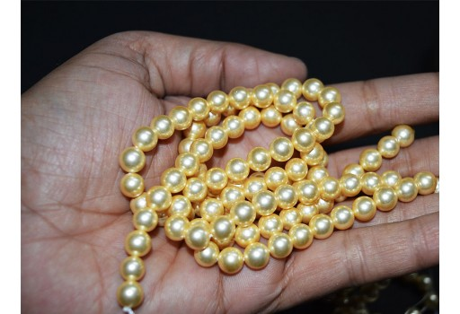 Shell pearl 8 mm Golden pearls