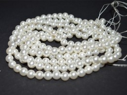 Shell pearl 8 mm White