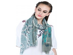 Multi Color Paisley Print Bridesmaid Evening Wrap Pure Wool Indian Winter Scarves Beautiful Online Autumn Scarf Women Gift Mom Girlfriend Softs And Stylish Christmas Birthday