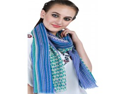 Indian Bridesmaid Scarfs Blue And Green Printed Unique Gift Pure Wool Winter Scarves Autumn Scarf Women Gift Mom Girlfriend Christmas Birthday Stunning Birthday Beautiful Accessories