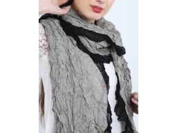 Grey color women crushed scarf by 1 pieces women accessory scarves indian online polyester bridesmaid evening shawls gift for mom and girlfriend christmas birthday bohemian long stole wrap