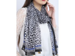 Animal printed women embellished scarves soft and stylish women fashion accessory scarfs by 1 pieces indian decorative polyester loop christmas bohemian long scarf  bridesmaid evening shawl wrap for ladies
