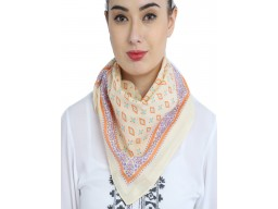 Decorated beautiful online christmas birthday gift peach color scarves by 1 pieces head wrap cowl neck wraps indian bandana headscarf fashion accessory designer neck tie square scarf gifting purpose for festive season