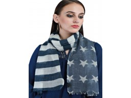 Navy Blue Pure Wool Party Wear Winter Scarves Autumn Long Scarf Women Accessory Online Beautiful Stunning Bridesmaid Evening Wrap Gifting Purpose For Ladies