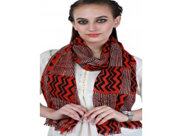 Red And Black Print Online Beautiful Stunning Pure Wool Indian Winter Long Scarves Women Accessory Autumn Scarf Gift Mom Girlfriend Christmas Birthday Perfect Gifting Porpose For Girls