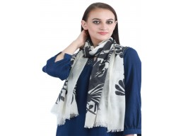 Indian Winter Scarves Black And White Pure Wool Autumn Long Scarf Women Accessory Indian Decorated Online Beautiful Party Wear Winter Scarves Soft And Stylish Mufflers For Ladies