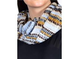 Multi color print infinity scarf by 1 pieces cowl neck wrap indian polyester women circle spring and summer christmas birthday loop scarf are casual head stoles for autumn fashion stoles for ladies
