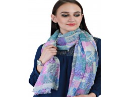 Bridesmaid Evening Wrap Indian Pure Wool Scarf Women Autumn Long Scarves Girlfriend Christmas Birthday Decorated Leaves Printed Woollen Scarfs For Mom