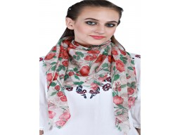 Decorated Square Floral Pattern Pure Woollen Winter Scarfs Bridesmaid Evening Shawl Wrap Beautiful Fashion Accessories Outstanding Handmade Stoles For Ladies Muffler