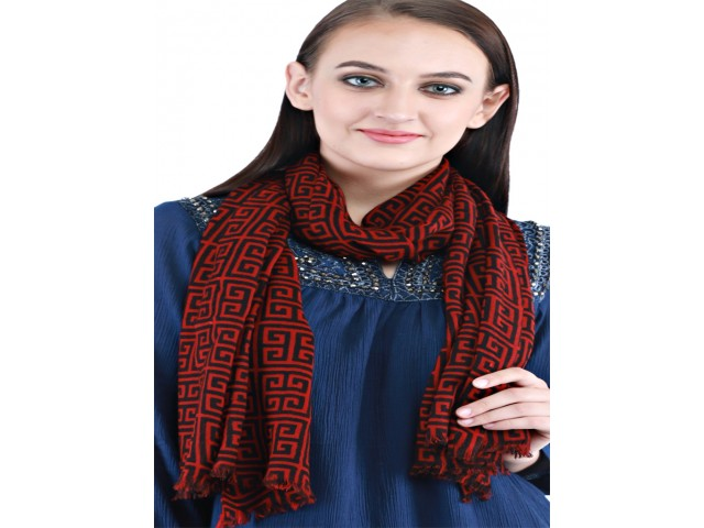 Red Black Wool Scarf Women Accessory Indian Long Scarves Gift for Mom Girlfriend Christmas Winter Autumn Bridesmaid Designer Party Stoles
