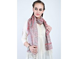 Embellished long evening wrap scarf by 1 pieces indian rayon christmas gift decorative multi color summer scarf bridesmaid beautiful neck viscose birthday scarves for women fashion accessories