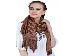 Decorated paisley printed shawls bridesmaid long evening wrap christmas birthday women fashion scarfs by 1 pieces frayed edges autumn scarves accessory online mustard yellow color rayon viscose stoles for mom