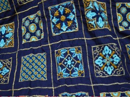 Square Design Embroidered Sewing Indian Fabric Crafting Making Cushion Cover Table Runners