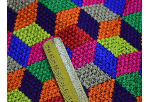 Kutch embroidery Multi Color Sewing Bohemian Indian Boho Fabric