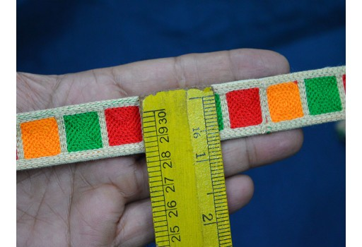 0.8 Inch wide Wholesale Embroidery Sewing Trim Tape Embroidered Trims By 9 Yard Decorative Laces Fashion Sari Border Trimming Las fronteras de jacquard