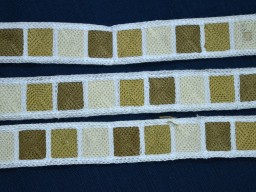 khaki embroidered designer trimsdecorative white indian sari border crafting clothing accessories ribbon sewing fabric trim by 2 yard beach bags hats making trimmings cotton fabric christmas laces
