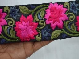 Wholesale Silk Embroidered Ribbon Decorative Trims Indian Sari Border