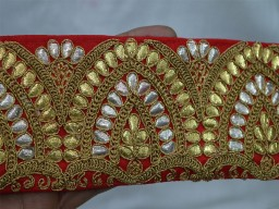 Fabric Trims and embellishments Red Trim by the Yard