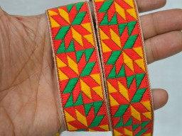 Sari Border Trimmings Decorative Craft Ribbon Jacquard Trim By 9 Yard Brocade Jacquard Ribbon Floral Pattern