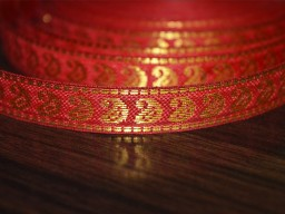 Red Paisley Pattern Jacquard Trim Supplies