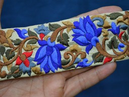 Indian sari border trim by the yard silk embroidered border decorative trims crazy quilting sewing fabric trim craft ribbon trimmings