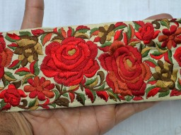 Wholesale Silk Embroidered Ribbon Trims Sewing Fabric Trim